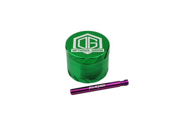 GGrinder One-Hitter Pipe Combo Green