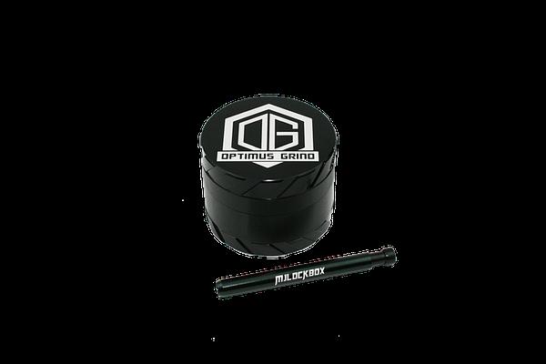 Grinder One-Hitter Pipe Combo Black